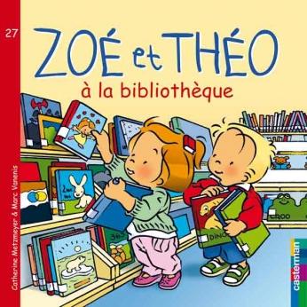 Zoé et Théo à la Bibliothèque