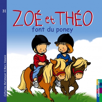 Zoé et Théo font du poney