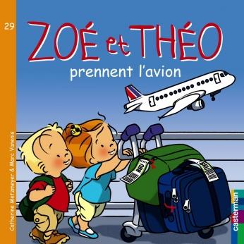 Zoé et Théo prennent l'avion