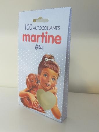 Martine, 100 autocollants Fêtes