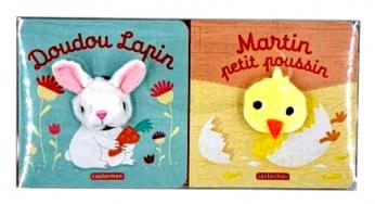 COFFRET DE PÂQUES Martin poussin + Doudou lapin
