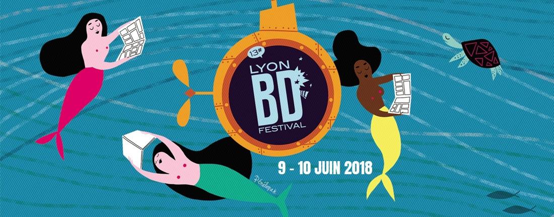 Affiche du Festival Lyon BD du 9 au 10 juin 2018